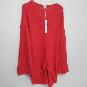 Caslon Chunky Knit Oversize Cuff Sweater S NEW